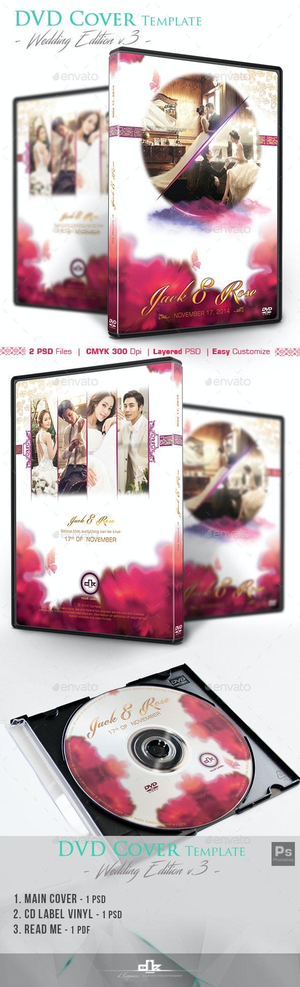 Wedding DVD Cover - Flowa - CD & DVD Artwork Print Templates