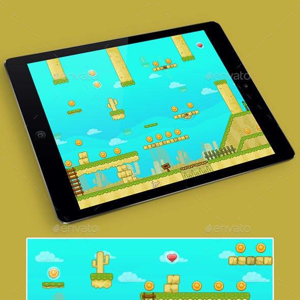 2D Desert Game Platformer Tilesets