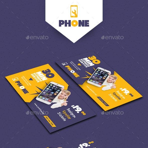 Phone Repair Business Card Templates