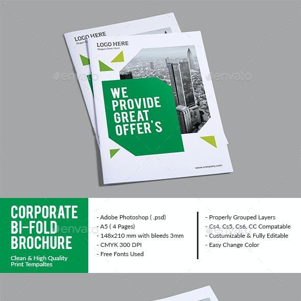 Green Corporate Bi-fold Brochure