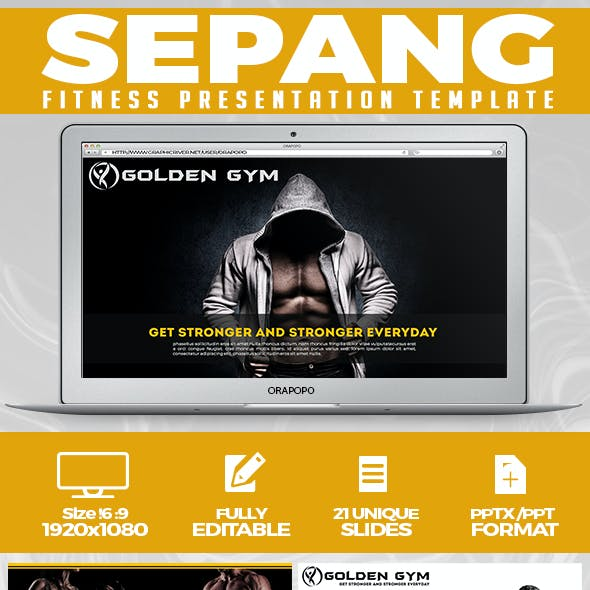 Sepang ~ Fitness Presentation Template