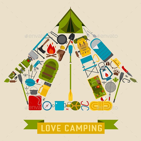Love Camping Concept