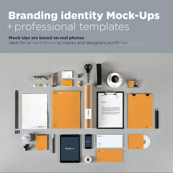 Branding identity Mock-Ups + Templates