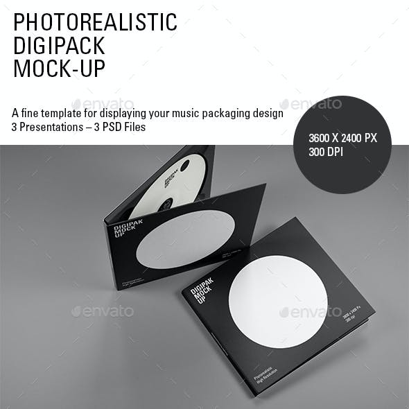 Photorealistic Digipak Mock-Up