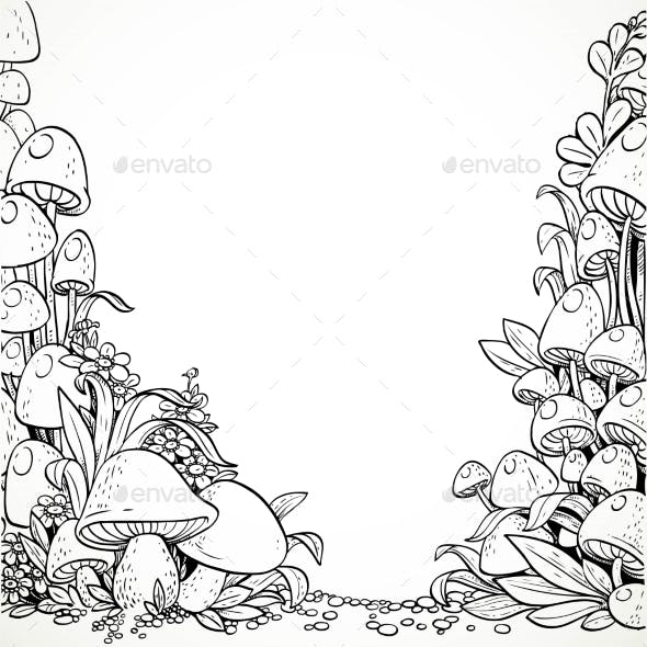 Fairytale Decorative Mushrooms