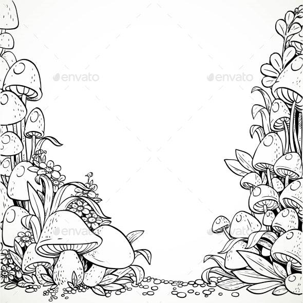 Fairytale Decorative Mushrooms - Flowers & Plants Nature