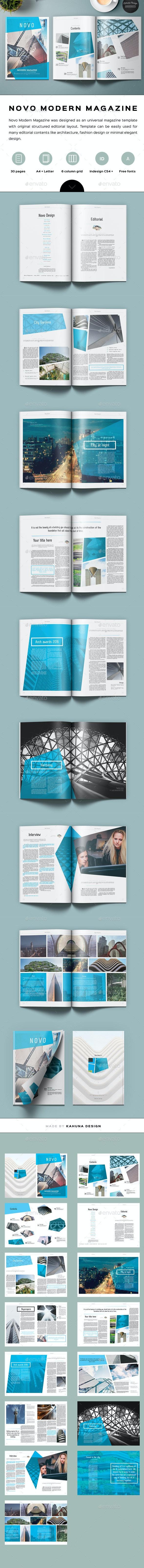 Novo Modern Magazine - Magazines Print Templates