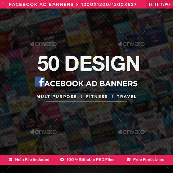 Multipurpose Facebook News Feed Banners - 50 Banners