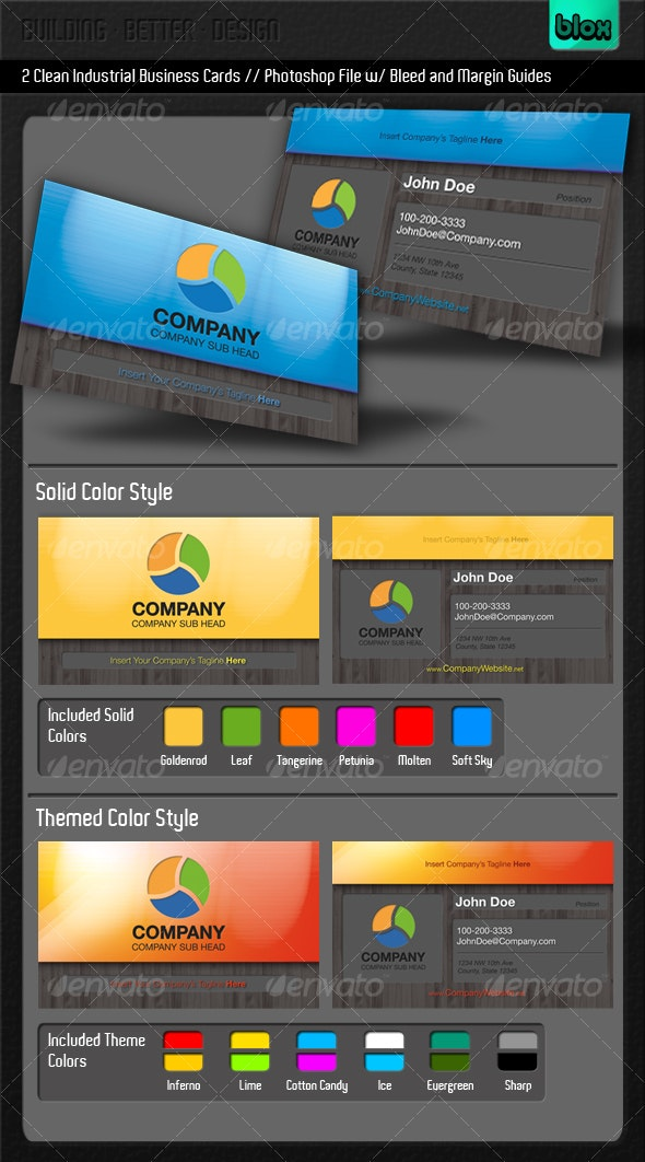 Clean Industrial Business Card - Creative Business Cards