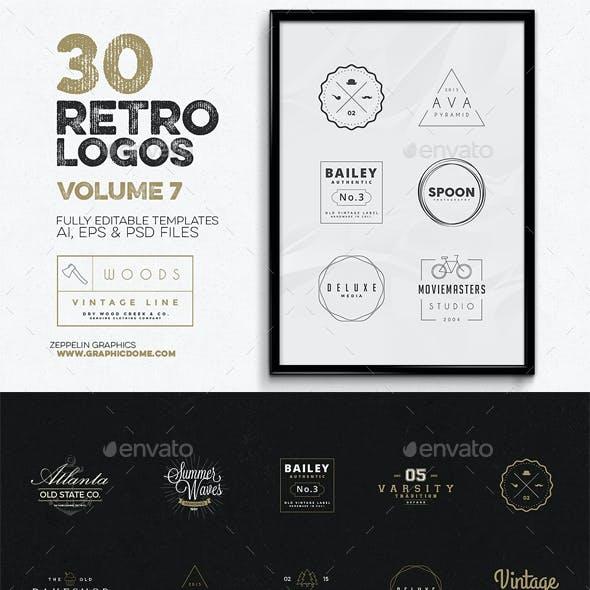 30 Retro Logos Vol.7