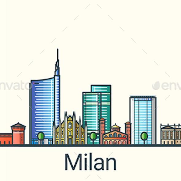 Line Flat Milan Banner
