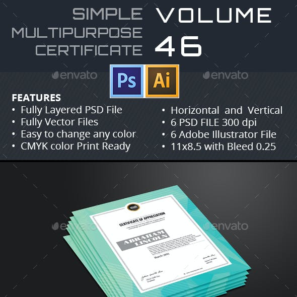 Polygon Multipurpose Certificate GD046
