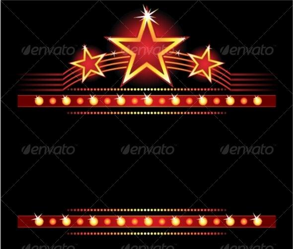 Stars over copyspace - Borders Decorative