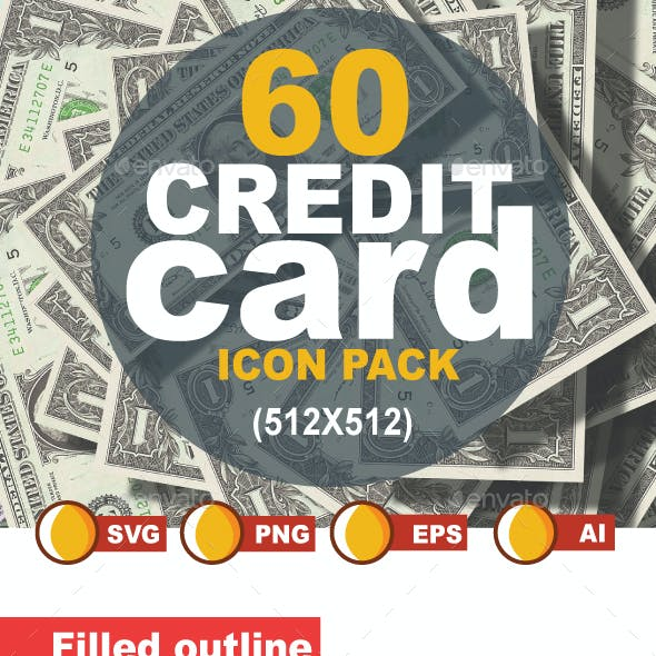60 Credit Card Icon Pack