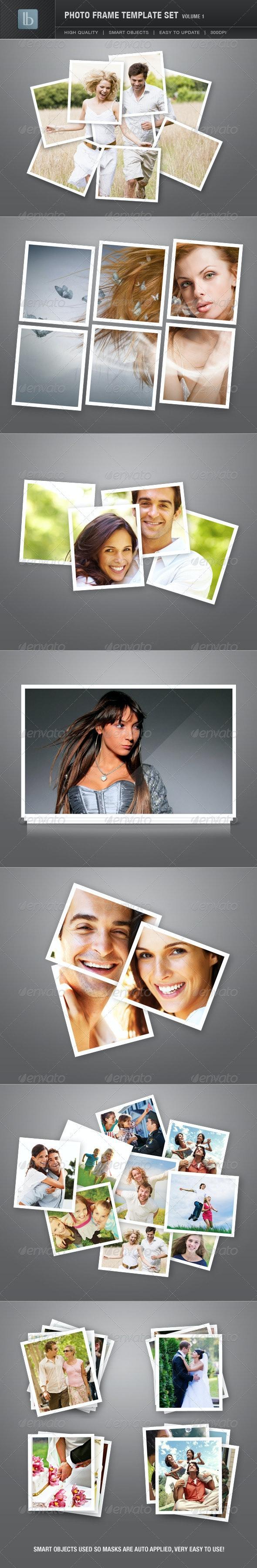 Photo Frame Template Set | Vol 1 - Photo Templates Graphics