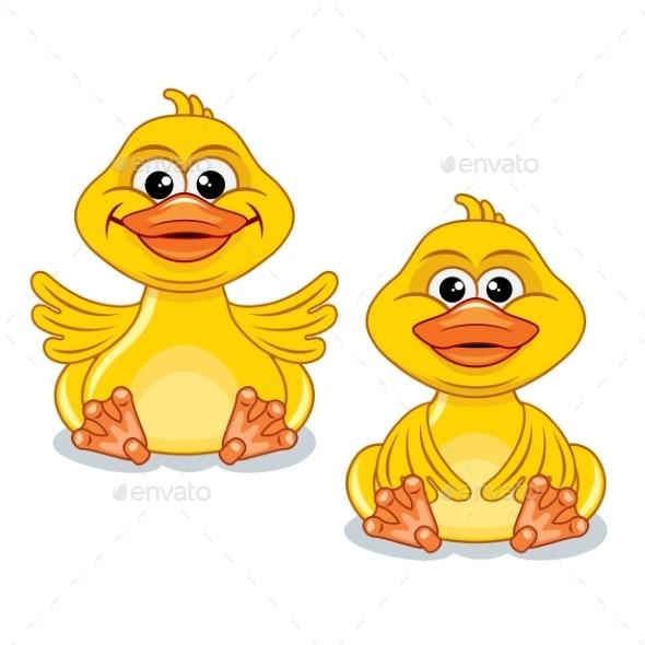Cartoon Duck - Animals Characters