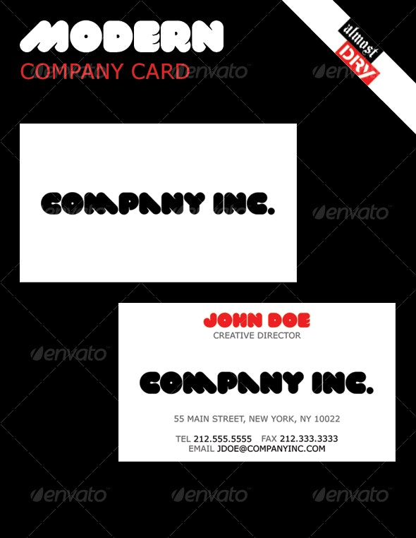 Modern Business Card   simple, yet stylistic. - Creative Business Cards