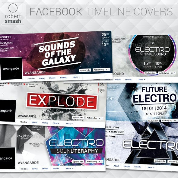 6 Music Event Facebook Timeline Covers vol.4