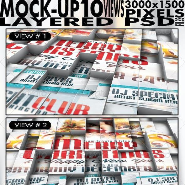 3D Cubes Flyer/Poster/Logo Mock up