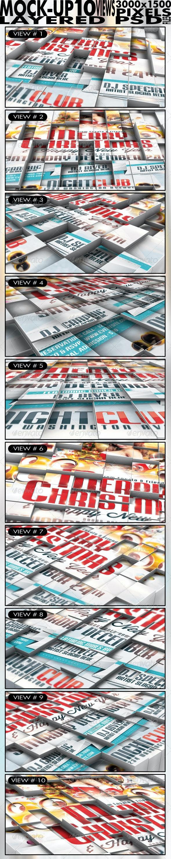 3D Cubes Flyer/Poster/Logo Mock up - Flyers Print