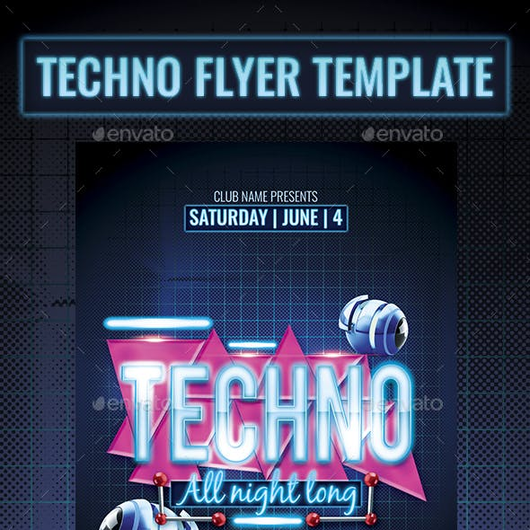 Tecno Party Flyer Template