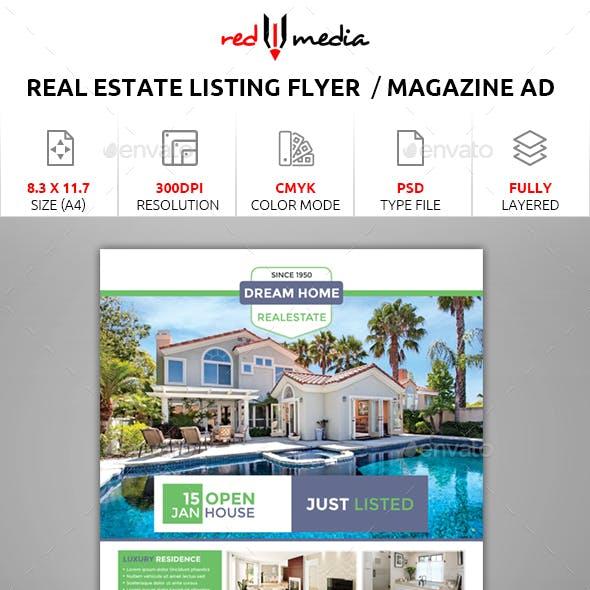 Real Estate Listing Flyer / Magazine AD