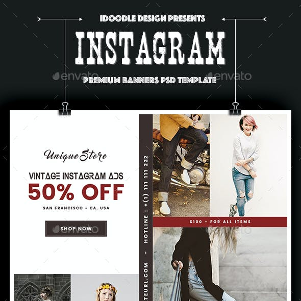 Fashion Instagram Banners Ad - 15 PSD