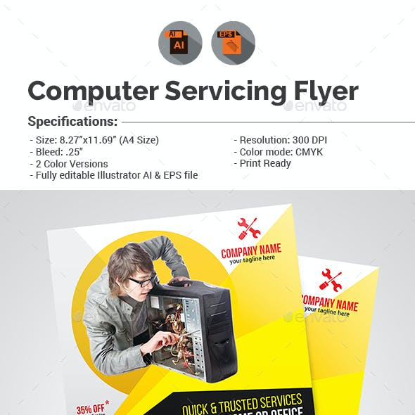 Computer Servicing Flyer Template