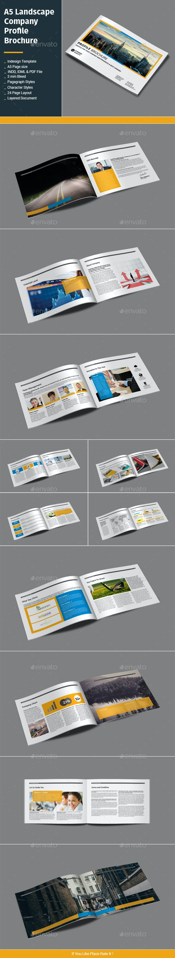 A5 Landscape Company Profile Brochure - Corporate Brochures