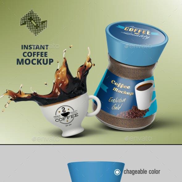 Instant Coffee Jar Mockup Vol.2