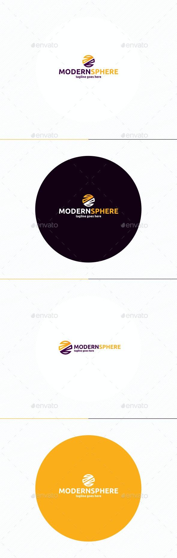 Modern Sphere Logo - Vector Abstract