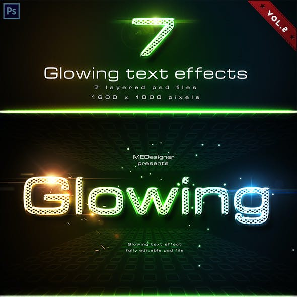 Glowing Text Effects V.2