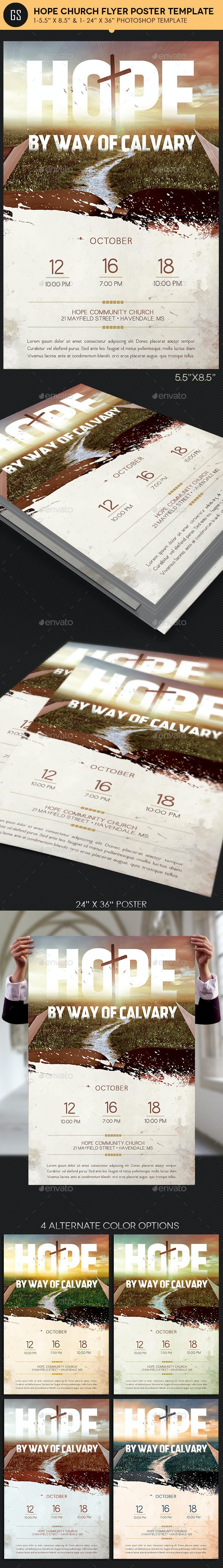 Hope Church Flyer Poster Template - Church Flyers