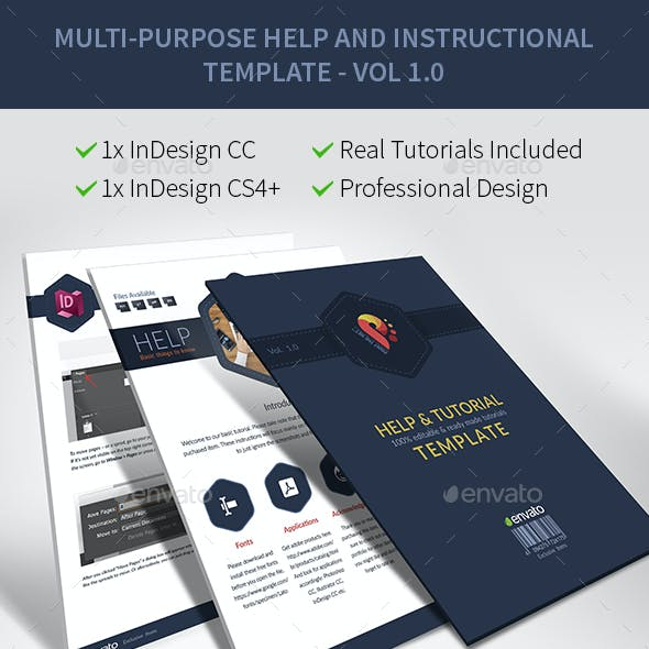 Documentation, Help File, Read Me and Instructional Template with Real Contents vol 1.0