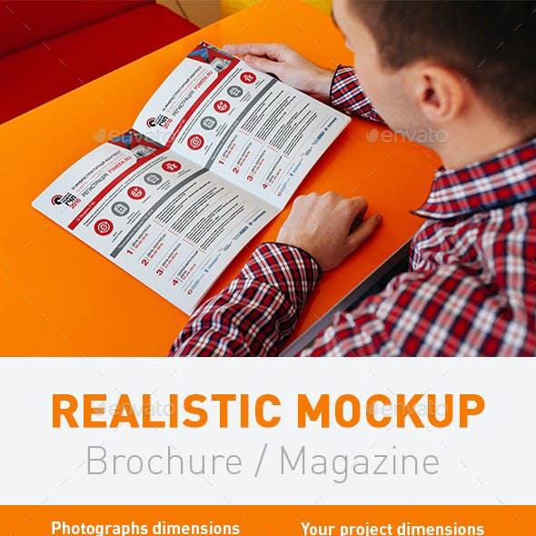 6 Realistic Mockup Magazine, Brochure