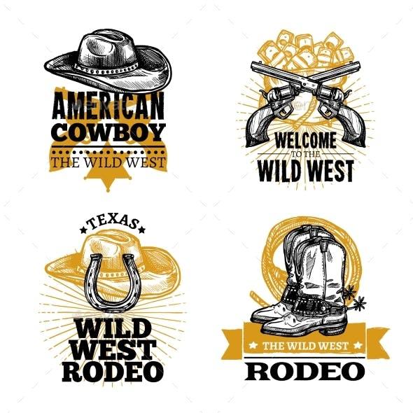 Cowboy Retro Emblems