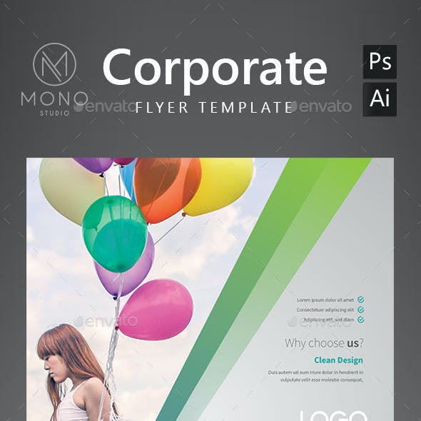 Corporate Flyer Template 8 by MONOGRPH