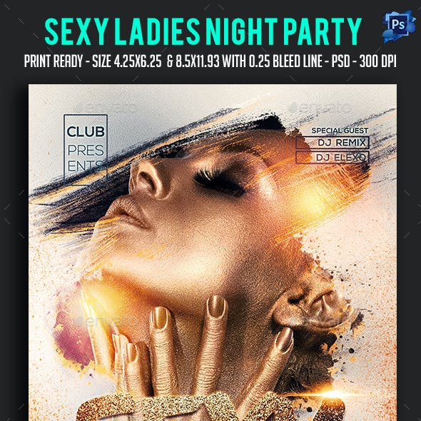 Sexy Ladies Night Flyer