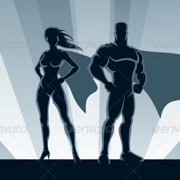 Superhero Couple