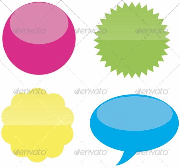 Reflective Bubbles - Decorative Symbols Decorative