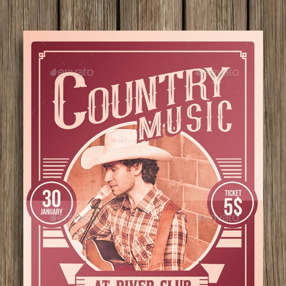 Country Music Poster Flyer