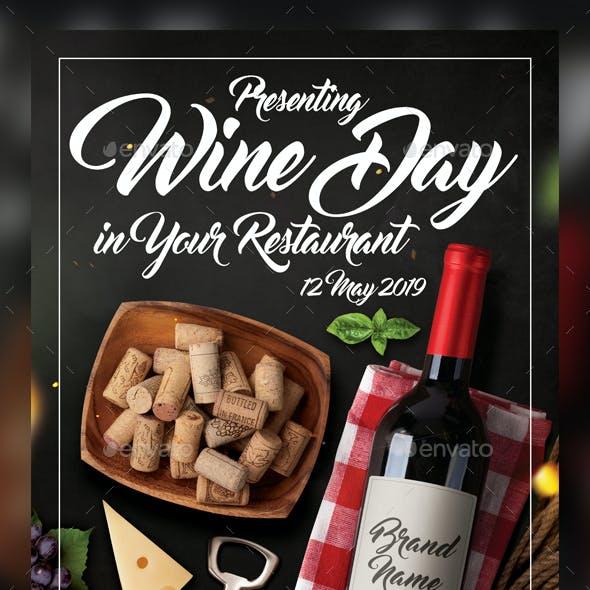 Wine Flyer Template