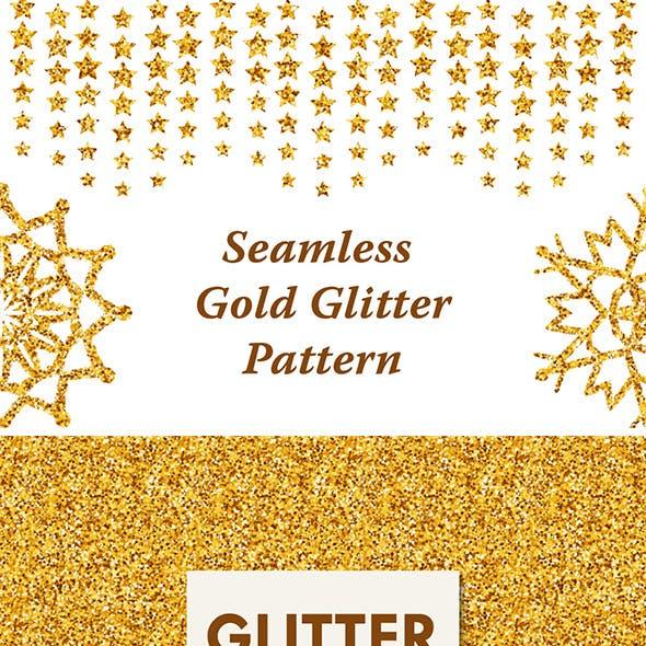 Seamless Golden Glitter Pattern