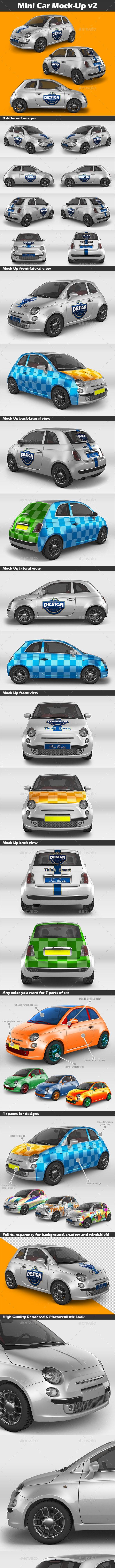 Mini Car Mock-Up v2 - Vehicle Wraps Print