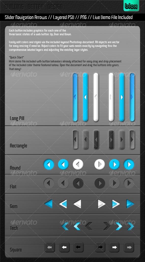 2.0 Slider Navigational Buttons - Buttons Web Elements