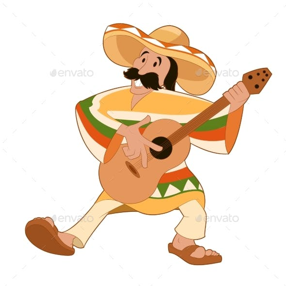 Cartoon Happy Mexican