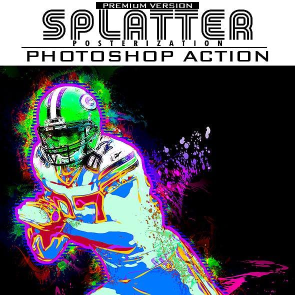 Splatter Posterization Photoshop Action