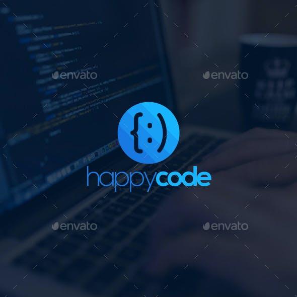 Happy Code Logo Template