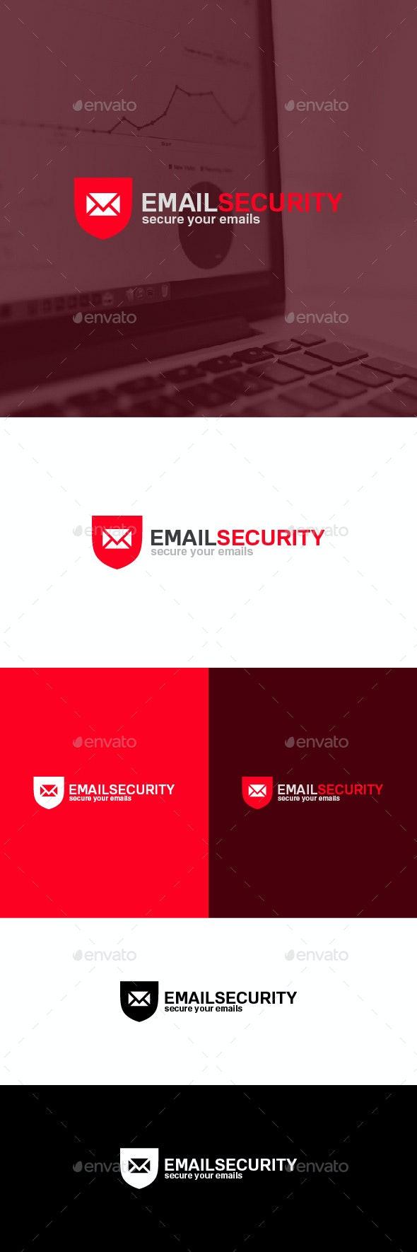 Email Security Logo Template - Symbols Logo Templates