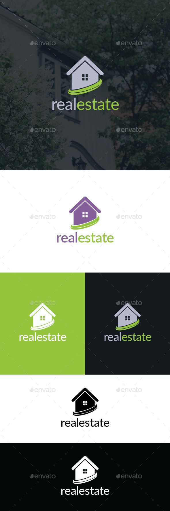 Real Estate Logo Template - Buildings Logo Templates